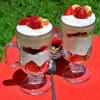 Десерт из рикотты и клубники
