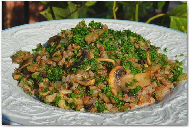 9 Гречневая каша с грибами