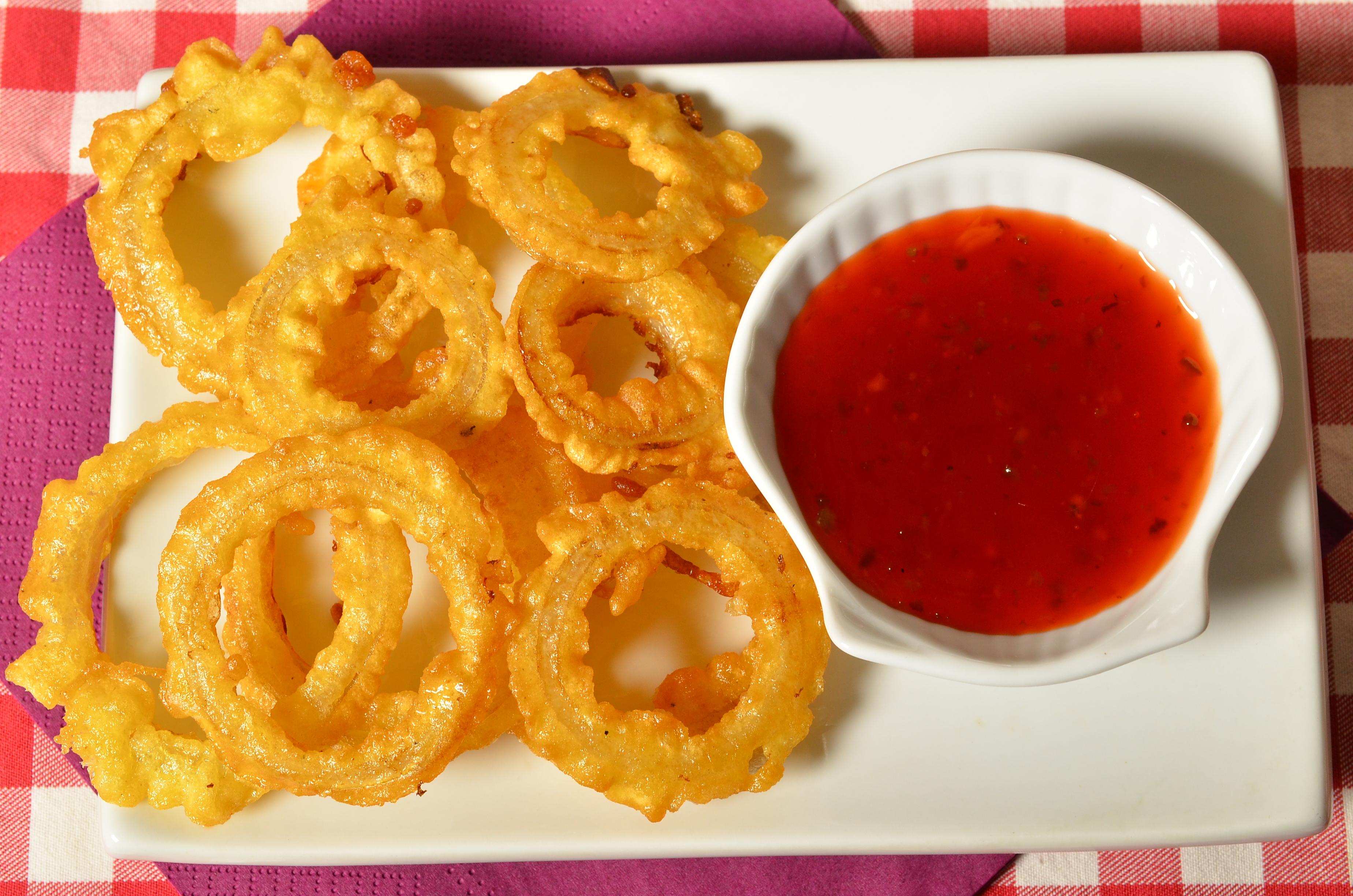 луковые кольца рецепт с  на сковороде