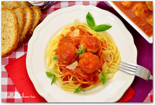 Куриные фрикадельки в ароматном томатном соусе 12-