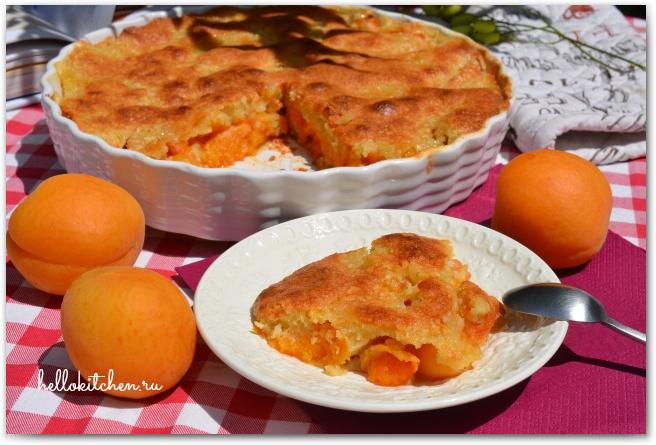 Миндальный пирог с абрикосами 00-