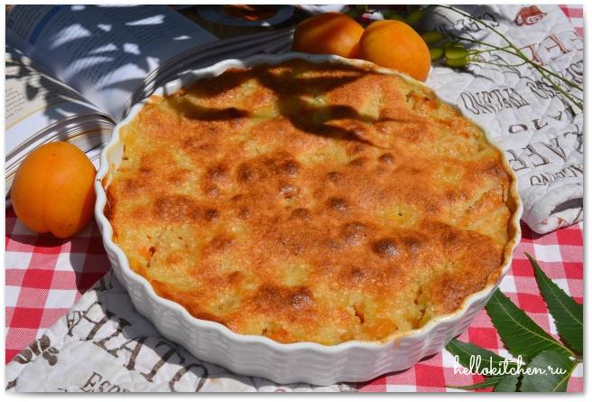 Миндальный пирог с абрикосами 12-