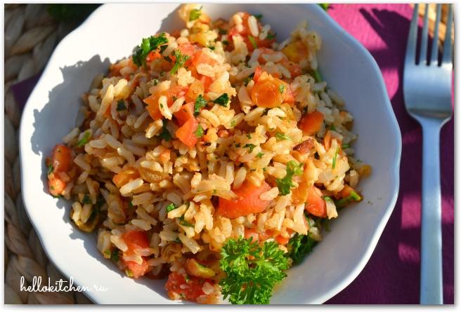 Рис с миндалем и изюмом 11-
