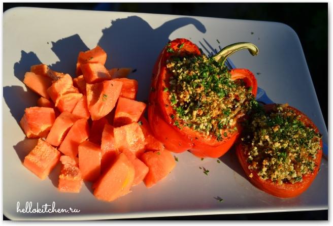 Фаршированные перцы и помидоры 18-
