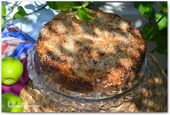 Творожно-яблочный пирог 18-