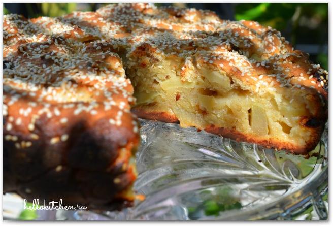 Творожно-яблочный пирог 19-