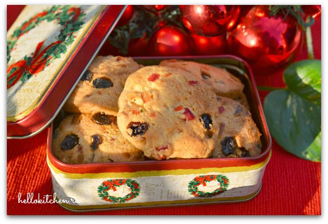 Печенье с цукатами и орехами 00-