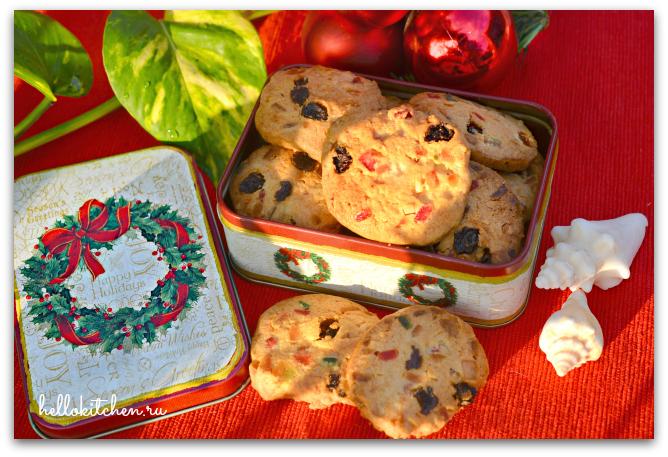 Печенье с цукатами и орехами 12-