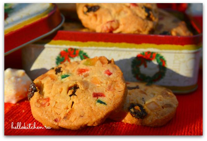 Печенье с цукатами и орехами 13-