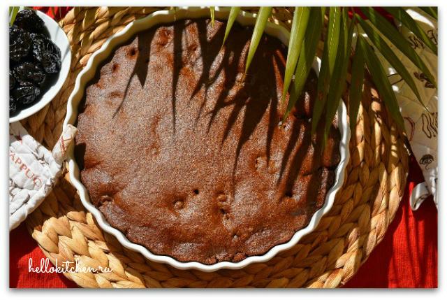 Кофейный пирог с черносливом 7-