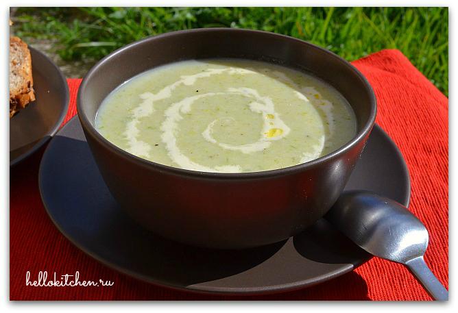 Суп-пюре из лука-порея 00-