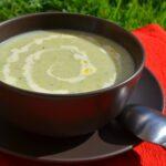 Суп-пюре из лука порея