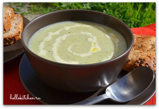 Суп-пюре из лука-порея 6-