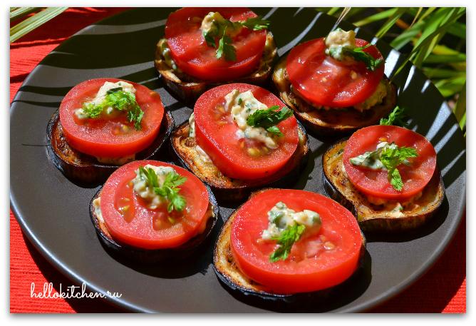 Закуска из баклажанов и помидоров 00-