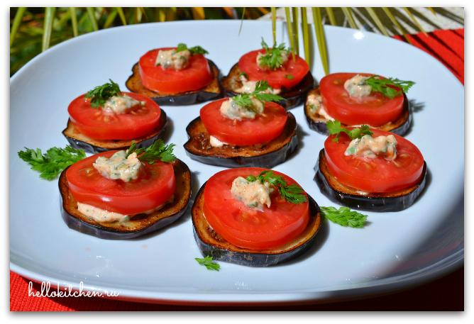 Закуска из баклажанов и помидоров 8-