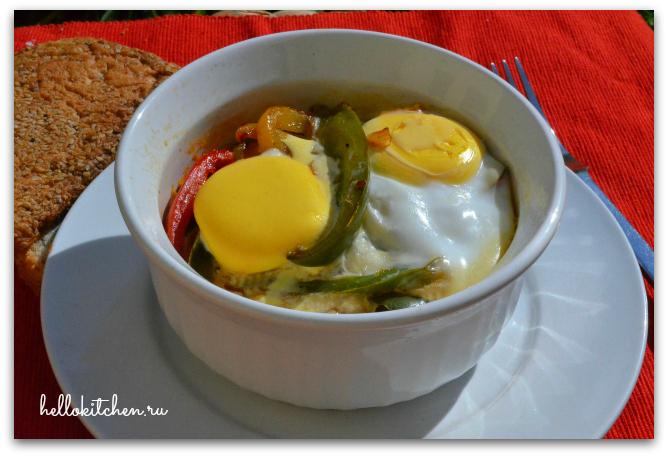Яичница с овощами в духовке 00-