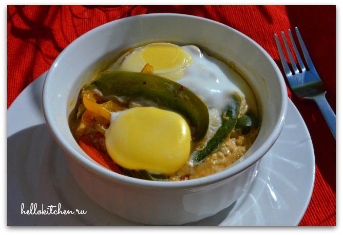 Яичница с овощами в духовке 6-