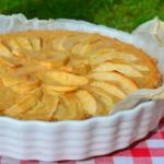 Яблочный тарт с йогуртом