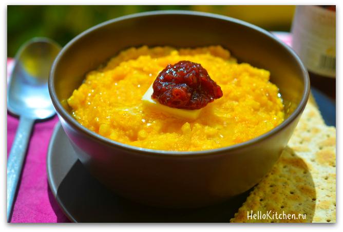 Рецепт каши с тыквой и рисом