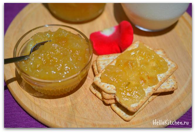 Яблочный джем с корицей рецепт